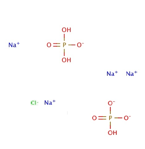 Molecule formula containing ions