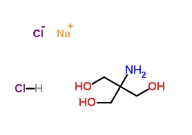 Structural formula of Tris plus main ions added