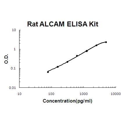 Rat ALCAM PicoKine ELISA Kit standard curve