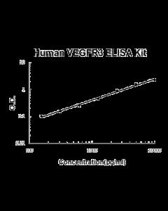 Human FLT4/VEGFR3 PicoKine ELISA Kit Standard Curve
