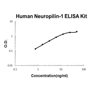 Human Neuropilin-1 PicoKine ELISA Kit standard curve