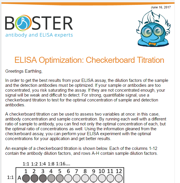 Boster technical blogs and news bosterbio fortunately using checkboard titration could help you optimize your elisa assay more quickly efficiently and accurately here is a how to guide for fandeluxe Images