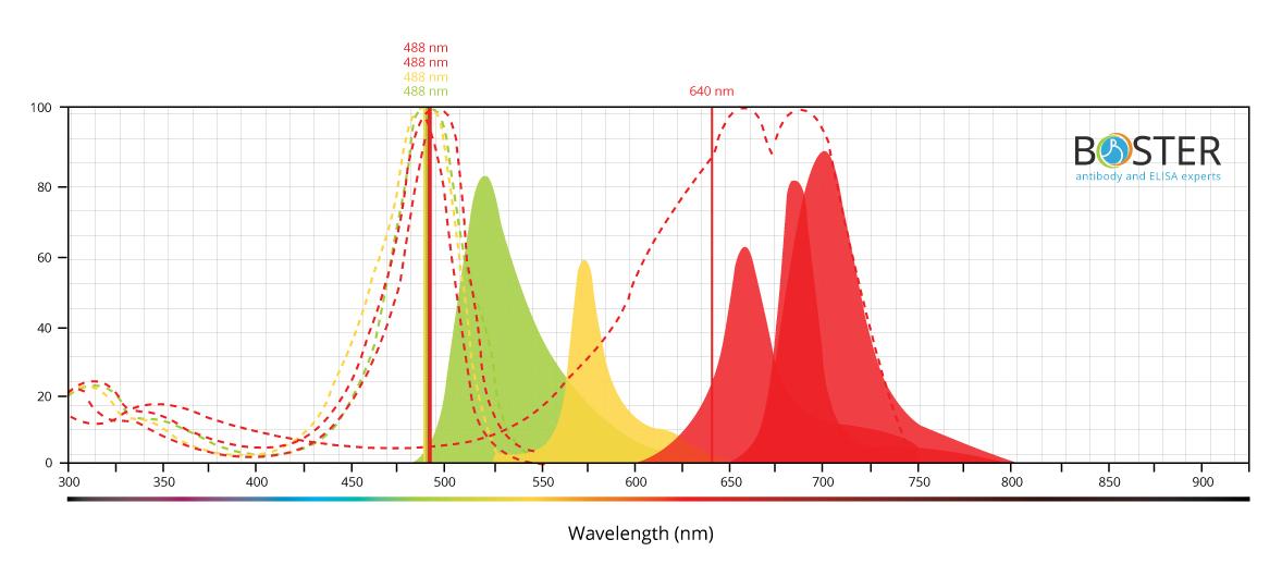 Dyes Spectrum Graph