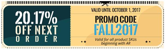 Promo Code FALL2017